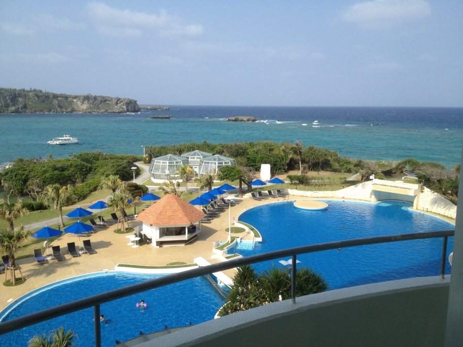 The view from my Okinawa hotel room!
