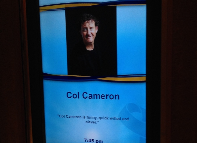 An ad for my show onboard the Voyager of the Seas